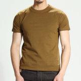 Stutzen-Shirt-Oberseite-T-Stück des Baumwolleinzelnes Jersey-Mann-O