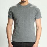 Té simple de dessus de T-shirt de collet de l'homme O du Jersey de coton
