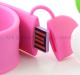 Palmada en mecanismo impulsor del flash del USB de la pulsera con los colores multi para usted bien escogido