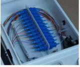 24 coffrets d'extrémité de fibre optique en métal de faisceau fixés au mur