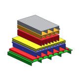 D500b Veelkleurige Pultrusion van het Type van Dek Profielen van het Materiaal van de Glasvezel
