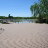 Plancher de plancher en plein air WPC solide (M12)
