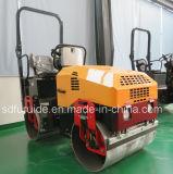 2 Ton rodillo compactador vibratorio Tandem con sistema de aspersión de agua (CAD-900)