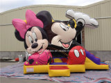Selling caldo Inflatable Mickey Bouncer e Slide Combo