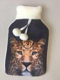 Tampa de borracha macia do frasco do tigre animal colorido do projeto