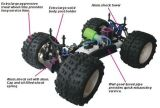 94087 1/8 4WD Nitro RC Monster Truck Racing Car