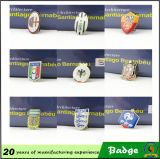 Shape rotondo Custom Logo Metal Badge con Butterfly Clasp