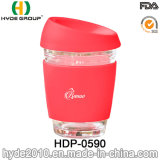 de Vrije Kop van het Glas 8oz/12oz BPA, de Kop van de Koffie van het Glas met Deksel (hdp-0590)