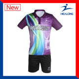 Sports Healong Jersey Custom Designs unisexe Sublimation complet Badminton Set (Sportswear)
