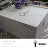 Hongdaoは熱い押されたロゴのマツ木そしてMDFの木製ボックスをカスタマイズした