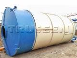 具体的な混合プラントで使用される100tによってボルトで固定されるセメント・サイロ