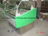 Congelador de vidro curvado do indicador do gelado com Ce
