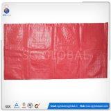 sacs 50bls tissés par pp rouges pour des haricots d'emballage