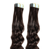 Hair Extensions PromotionのTape 14 Colors Remy Tapeの18inches Blonde Tape Hair 20PCS BlackブラウンSkin Weft Hair Extensions