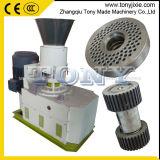 Remise en usine de la paille Pelletizer 300-500kg/h Die machine à granulés de bois plat