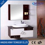 Module de salle de bains en bois solide de mur de modèle moderne avec le miroir