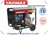 Gruppo elettrogeno diesel raffreddato aria del blocco per grafici aperto di monofase del motore diesel di Yarmax Ym9500e Genset