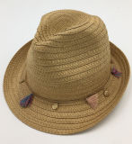 Sombrero de paja de papel con Colourized Sh036 de cadena