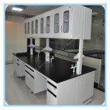 Белая Epoxy таблица лаборатории компьютера биологии Worktops