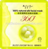 Máscara de seda natural do tratamento da cara do chá verde do controle do óleo