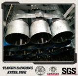 Dn100 Tubo de acero galvanizado con tapa