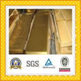 Hoja de cobre amarillo C26000 a medias duro