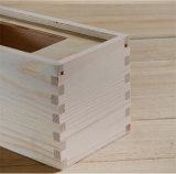 Сползать коробку древесины сосенки крышки для вина с окном