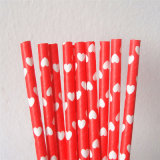 Rote Farben-Inner-Papier-Strohe für Valentinstag
