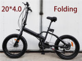 20 Inch fetter Gummireifen-elektrisches Fahrrad faltend