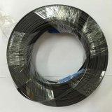 Cable de gota óptico de la fibra plana de la dimensión de una variable FTTH 1core G657A LSZH/cable de gota de interior de la mariposa