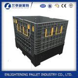 Boîte à palettes en plastique avec 4 murs pliables fermés à vendre
