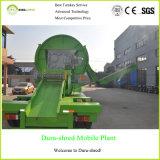 Doppio taglio verde fresco della gomma della trinciatrice dell'asta cilindrica e macchinario di riciclaggio
