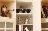 Mobilia calda di legno della Camera dell'armadio da cucina di vendita di buona qualità del PVC (zc-055)