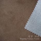 Tissu court mou de la meilleure qualité de velours de pile avec le support tricoté