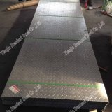 Placa do verificador do piso de aço inoxidável do SUS 304 para a escada