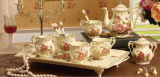Hw-7046 Juego de café té de porcelana de marfil