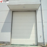 Гальванизированная стальной изолированная поверхностью секционная надземная дверь гаража