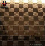 Geätztes dekoratives Farben-Edelstahl-Blatt für Baumaterial