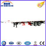 remorque de service semi à plat de conteneur de 2axle 40FT, remorque élevée de cargaison de camion de bâti