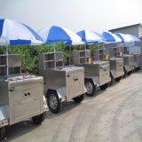 Eiscreme-Nahrungsmittelkiosk-LKW das 3 Meter-lange Cer-Bescheinigung drücken mobile Nahrungsmittelkarre von Hand ein