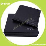 Masculino Negócios Proteção de couro genuíno RFID NFC Carteira Anti magnética Anti Scanning Banco Suporte de cartão de crédito