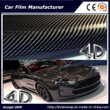 vinile dell'involucro dell'automobile dell'autoadesivo dell'automobile del vinile della fibra del carbonio 4D