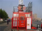 Elevador dobro da construção da cabine 1ton para a venda por Hstowercrane