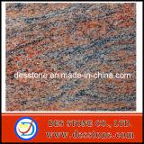 Mulitcolor de granito rojo que losa de disipador de desecho de mosaico (DES-GT030)