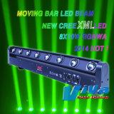 8X10W CREE LED RGBW 8 têtes Feu de route de la tête mobile