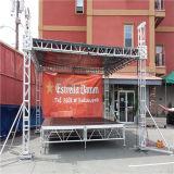 Ферменная конструкция этапа крыши освещения алюминиевого случая выставки согласия Spigot модного парада напольного напольная