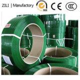 La fuerza de alta tensión de la correa de la máquina de bobina Ployester Jumbo de plástico verde Correa Pet 75kg /125kg.