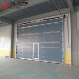 Промышленным полная изолированная алюминием Tempered - дверь надземного гаража взгляда нутряная