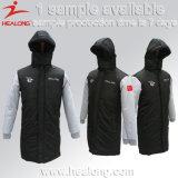 Chaquetas de la capa del llano de la ropa de deportes del diseño de la manera de Healong para la venta
