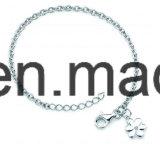Braccialetto semplice /Anklet dei monili d'argento 925